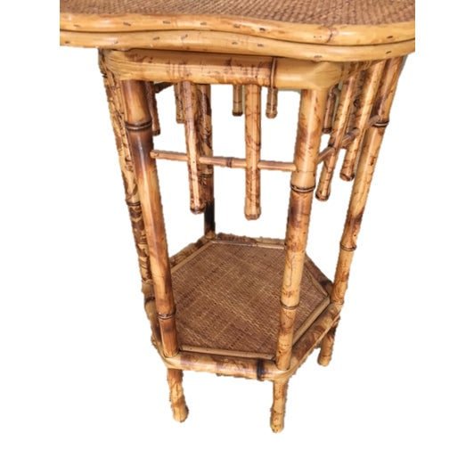 Scalloped Bamboo Side Table - Image 2 of 4