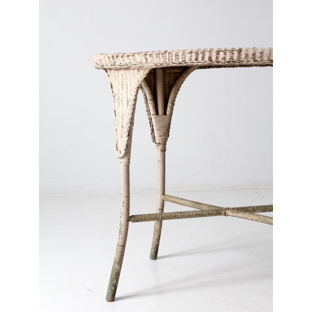 Antique Wicker Side Table For Sale - Image 9 of 13