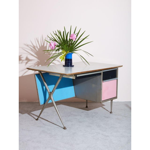 Industrial Vintage Raymond Loewy Desk For Sale - Image 3 of 5