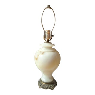 Antique Marble Table Lamp For Sale