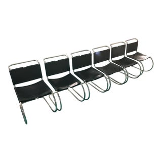 Mies Van Der Rohe (Mr) Chairs - Set of 6 For Sale