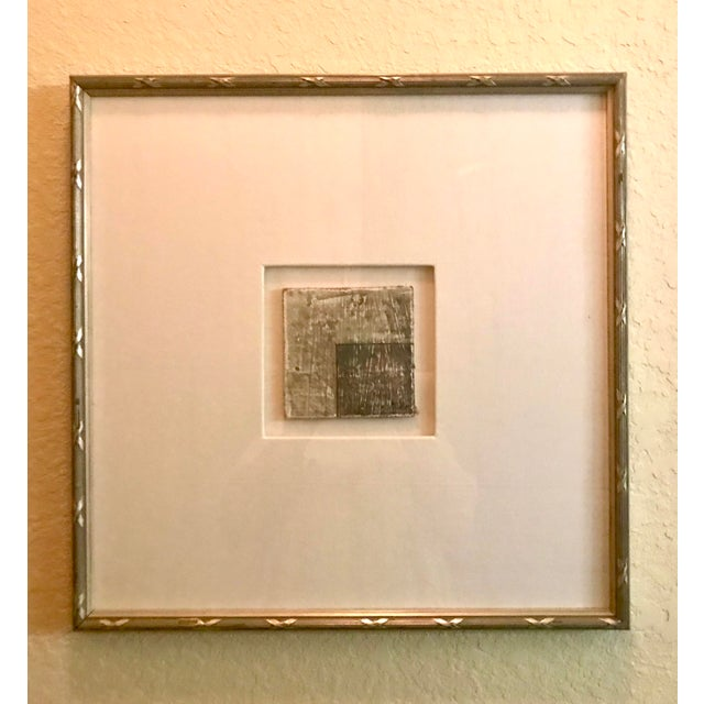 Small Matted Painting #5 With Silver Leaf Frame by Allen Kerr For Sale - Image 4 of 4