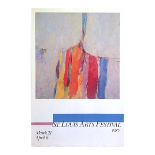 Arthur Osver Vintage 1985 Abstract Expressionist Lithograph Print St. Louis Arts Festival Exhibition Poster For Sale