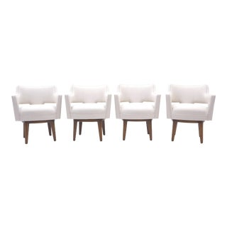 Dunbar Swivel Armchairs by Edward Wormley, Set of Four, Expertly Restored For Sale