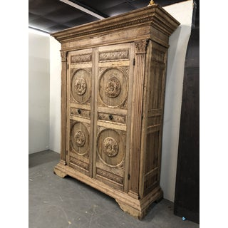 18th Century Italian Renaissance Bleached Armoire Preview