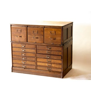 1900s Rustic Century Yawman & Erbe Stacking Filing Cabinet Preview