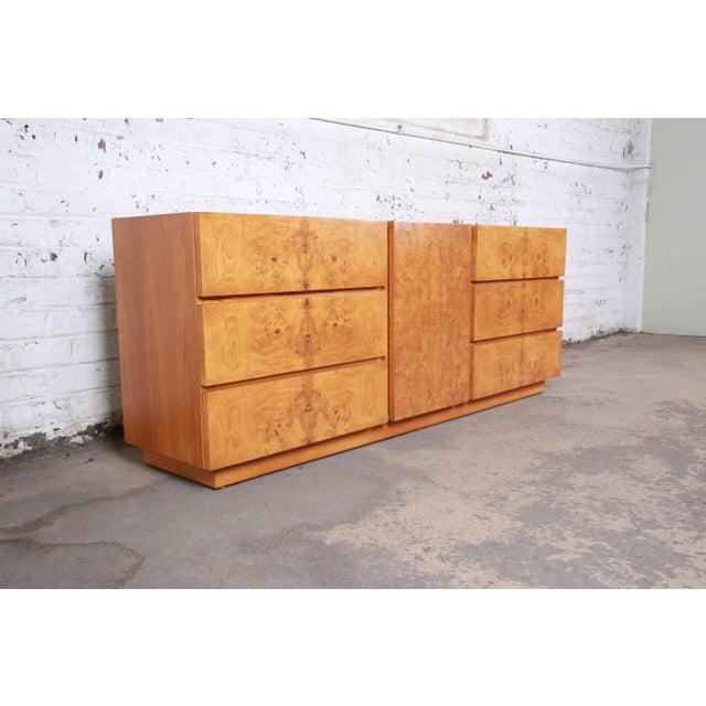 Danish Modern Burl Wood Credenza by Lane Furniture For Sale - Image 3 of 13