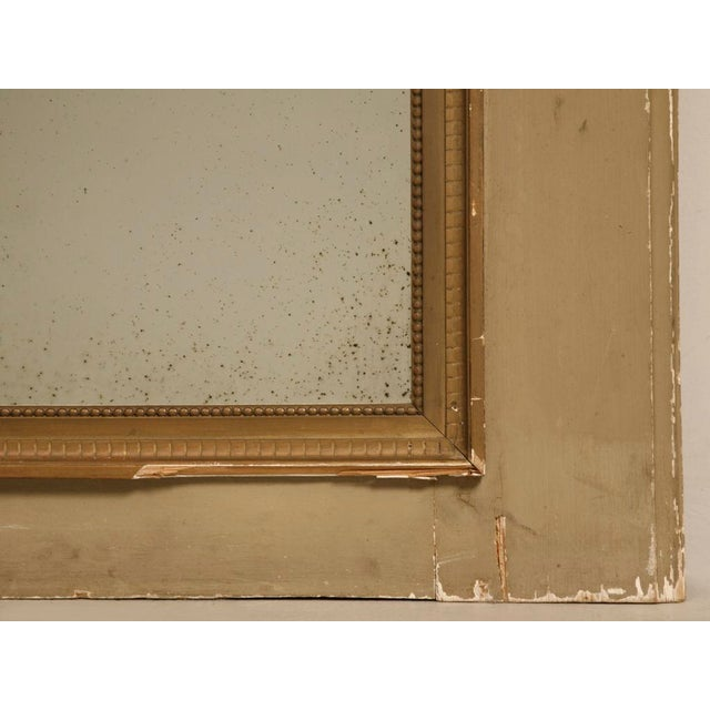 Late 19th Century Circa 1880 French Painted Trumeau Mirror For Sale - Image 5 of 12