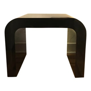 1970s Modern Lacquered Waterfall Table For Sale