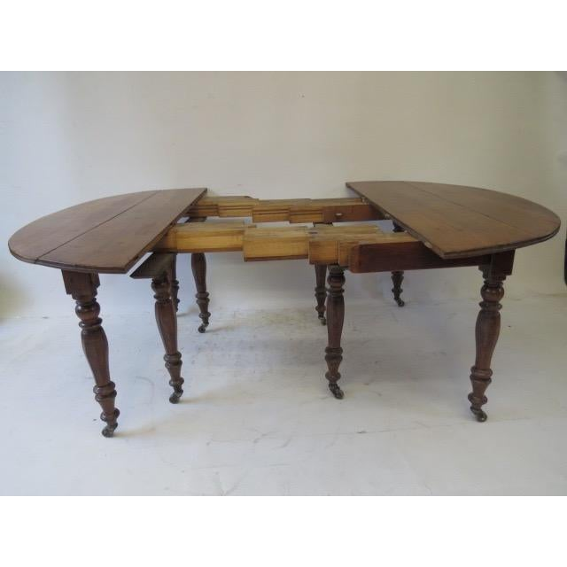 Antique Louis Philippe Dining Table - Image 5 of 8