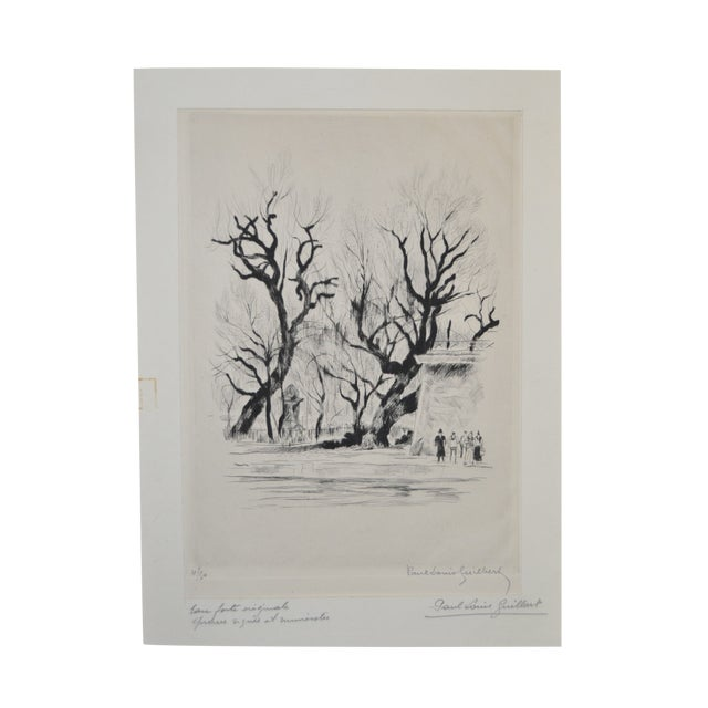 Rare Etching by Paul-Louis Guilbert C.1940 For Sale