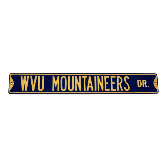 West Virginia University Street Sign For Sale