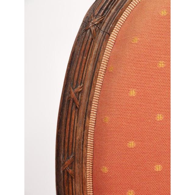 """Louis XVI Style Bergere """"En Gondole"""" For Sale - Image 9 of 9"""