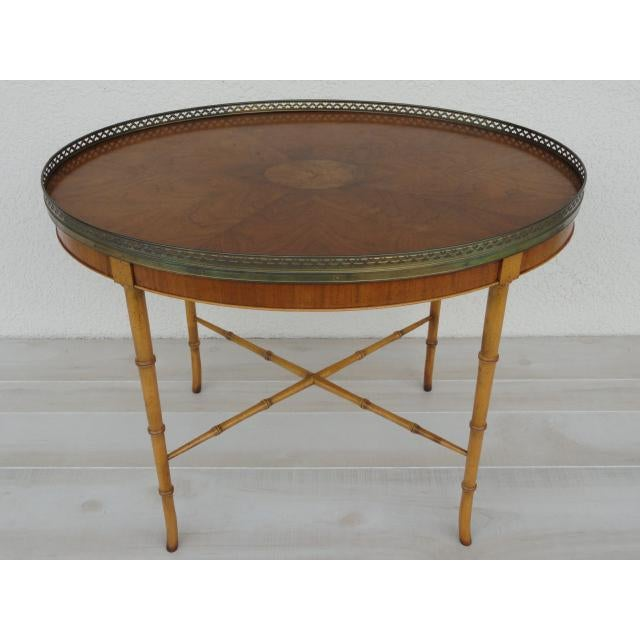 Baker Furniture Company 20th Century Chinoiserie Holland Salley Baker Furniture End Table For Sale - Image 4 of 13