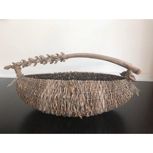 Organic Modern Samuel Yao Handwoven Basket For Sale - Image 9 of 9