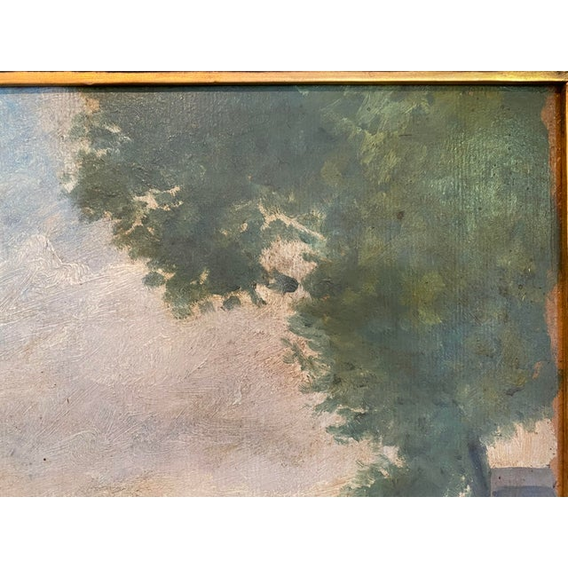 Vintage Signed Oil on Canvas Framed Painting For Sale - Image 9 of 13