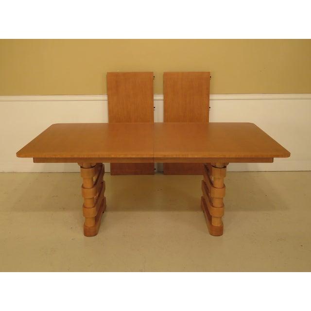 Baker Modern Design Satinwood Mahogany Dining Room Table For Sale - Image 13 of 13