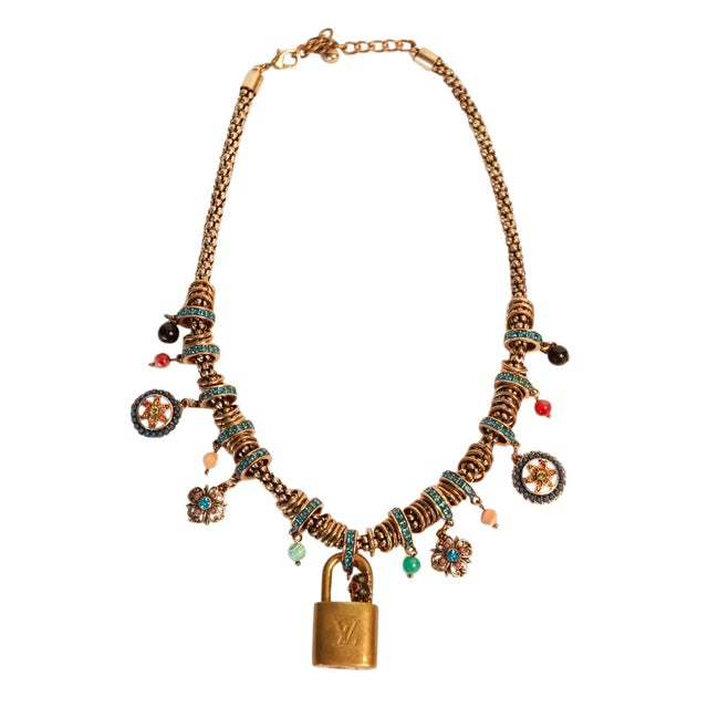 Louis Vuitton Charm Necklace For Sale