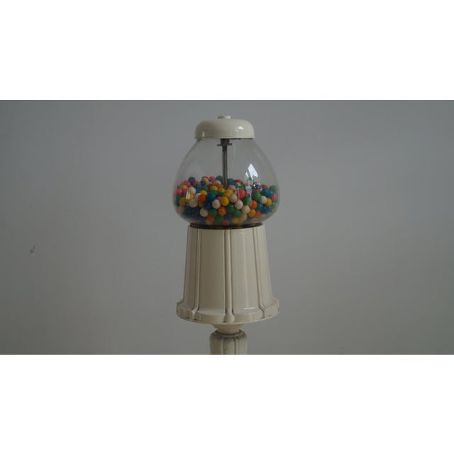 Rustic Shabby Chic Tall Gumball Machine For Sale - Image 3 of 5