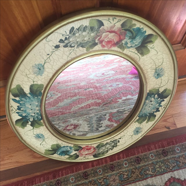 Vintage Hand-Painted Mirror - Image 6 of 6