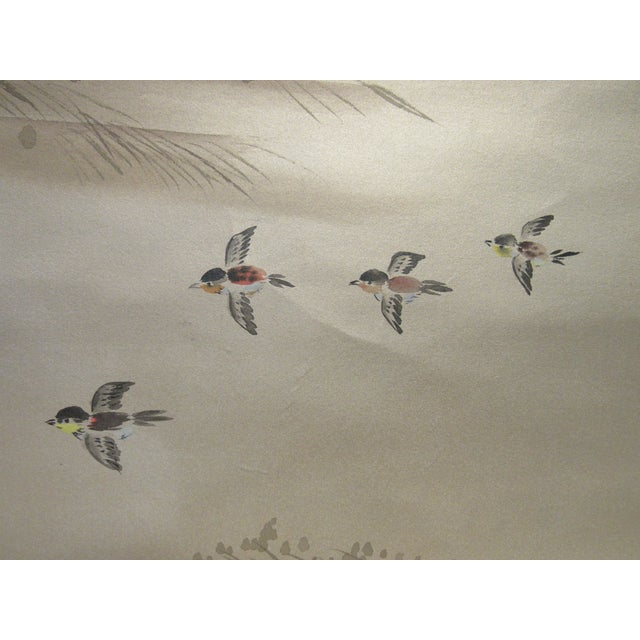 2010s Painted Hunting Scene Mural Wallcovering For Sale - Image 5 of 12