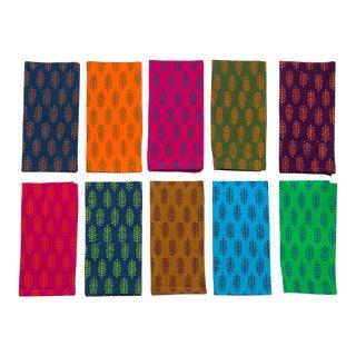 Fern Napkins Collection, Set of 10 - Multi-Color For Sale