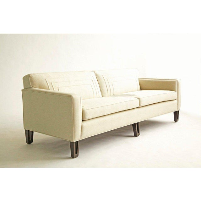 Edward Wormley (1907 - 1995) Wormley design for Dunbar, great scale, solid cut-out wood legs, and has been reupholstered...