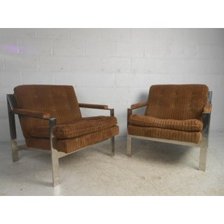 Vintage Modern Chrome Lounge Chairs by Cy Mann Preview
