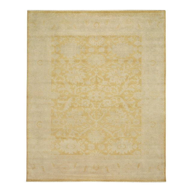 Gold Hand Knotted Area Rug - 8′ × 10′ - Image 1 of 3