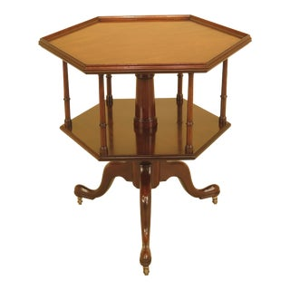 Kittinger Cw-161 Colonial Williamsburg Octogonal Mahogany Table For Sale