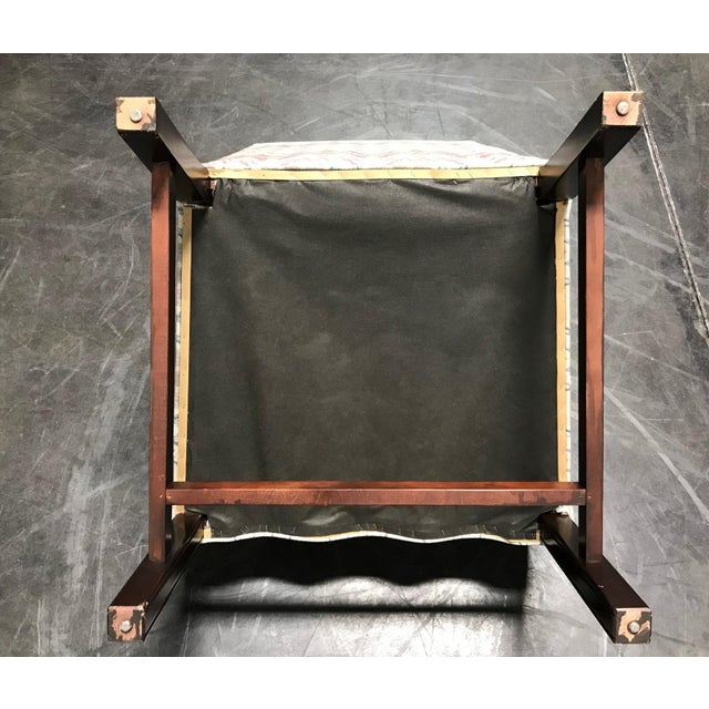 Mahogany Chippendale Flame Stitch Wing Chair - Image 9 of 10