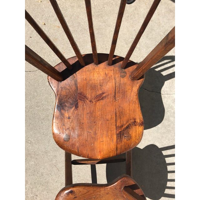 Early 1900's Wood Chairs - Set of 4 - Image 4 of 4