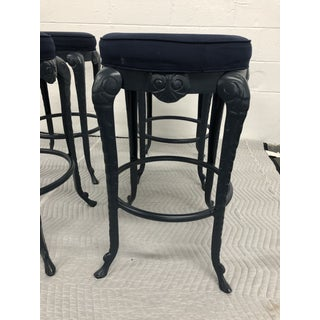 Vintage Grotto Style Aluminum Barstools - Set of 4 Preview