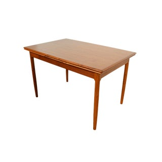 Danish Modern Teak Surfboard Top Two Leaves Dining Table For Sale