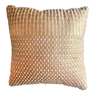 Pink,Gold,White & Beige Accent Pillow