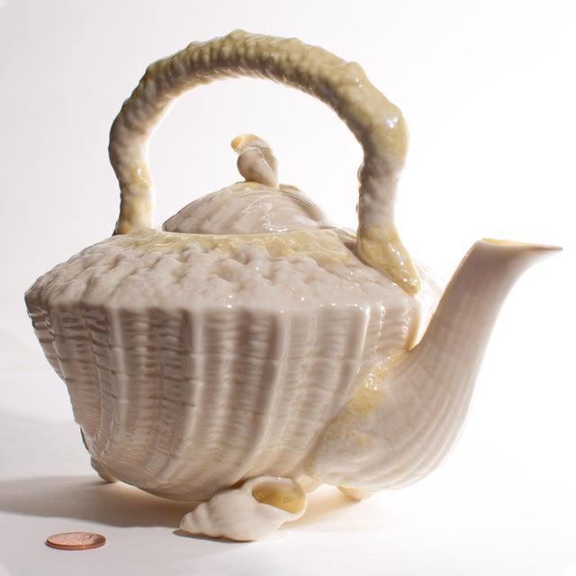 Early 20th Century Belleek Irish Seashell Teapot For Sale - Image 5 of 9