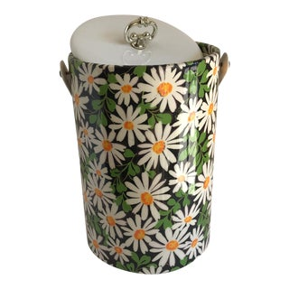 Mid-Century Daisy Ice Bucket For Sale