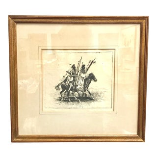 "Early 20th Century Antique Edward Borein ""Going to the Dance"" Drawing For Sale"