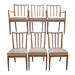 Mid-Century Modern Walnut Dining Chairs - Set of 6