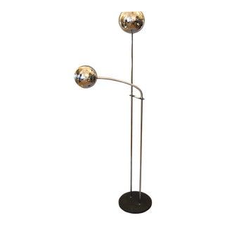 Mid-Century Modern Two Chrome Ball Floor Lamp For Sale