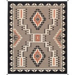 Modern Pasargad Home Navajo Style Wool Area Rug-9′1″ × 11′10″