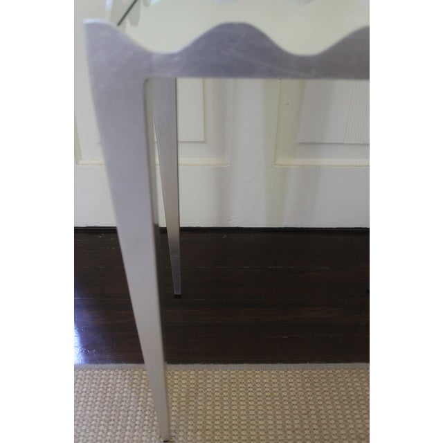 2010s Worlds Away Wave Edge Side Table For Sale - Image 5 of 10