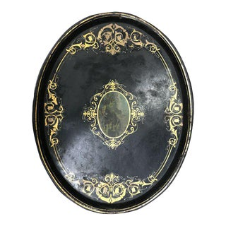 19th Century Antique French Filigree Tray For Sale