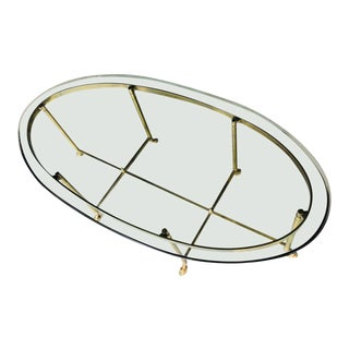 Brass Hooves & Glass Top Coffee Table
