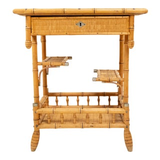 Aesthetics Movement Faux Bamboo Side Table For Sale