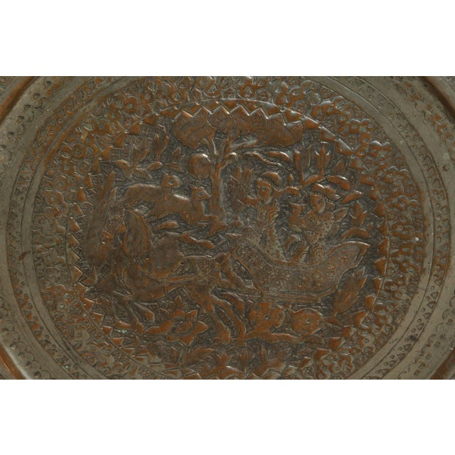 Copper Persian Hanging Platter For Sale - Image 7 of 10