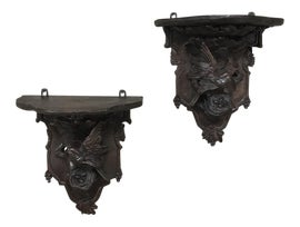 Image of Burnt Umber Sculptural Wall Objects