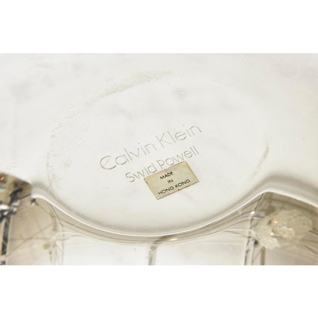 Calvin Klein for Swid Powell Silver-Plate Caviar Serving Bowl Barware For Sale - Image 10 of 11