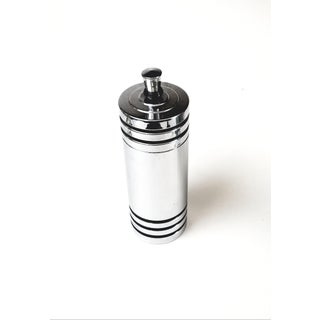 Art Deco Chase Gaiety Chrome Cocktail Shaker, With Black Enamel Stripes - Patented in 1933 Preview