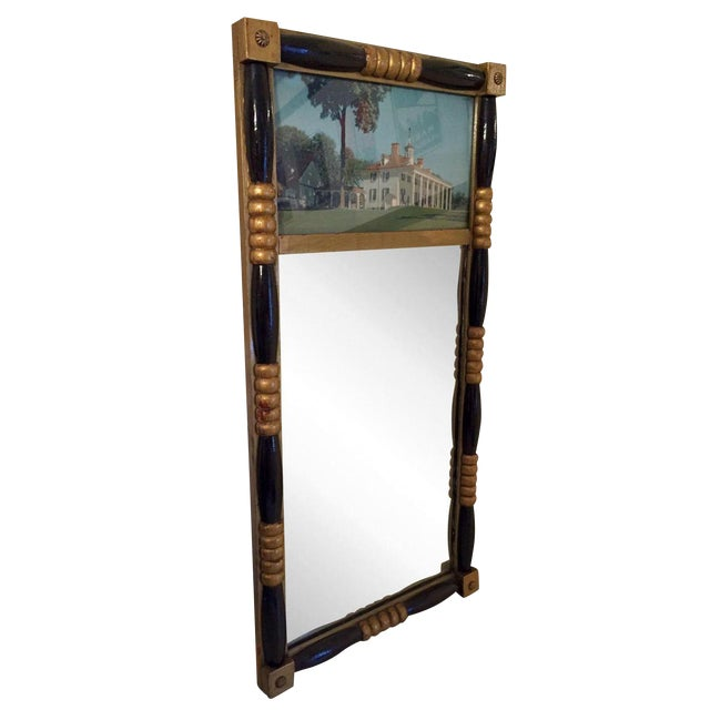 Antique Sheraton Federalist Style Mirror of Washington's Mount Vernon - Image 1 of 8